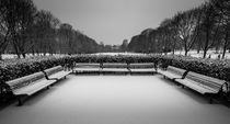 Benches in snowy park von Nuno Borges