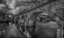 Rail Bridge in black and white von Nuno Borges