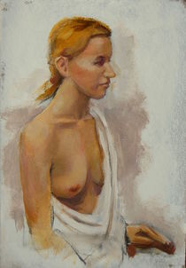 Weiblicher Halbakt 2 by alfons niex