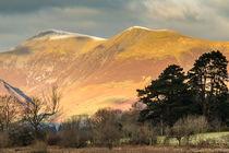 Skiddaw in the English Lake District in autumn sunshine by Chris Warham