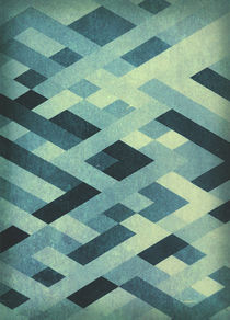 Abstract Pattern in Blues by Kreativ Corner
