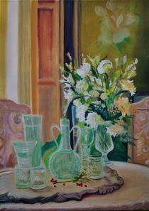 Weisser Blumenstrauss von Stephanie Koehl