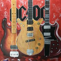 AC~DC Malcolm Young Guitar by David Redford