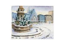 Leipziger Augustusplatz im Winter by Ronald Kötteritzsch