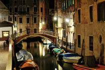 Venice night view, Italy, Europe by Tania Lerro