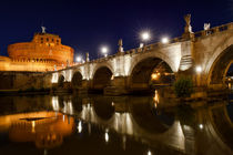 Castel Sant'Angelo night view, Rome, Italy by Tania Lerro