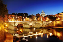 Rome and  Vatican night view, Italy by Tania Lerro