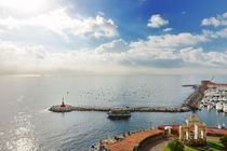 Naples sea and sky, Italy by Tania Lerro