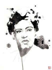 Portrait of Billie Holiday von Philippe Debongnie