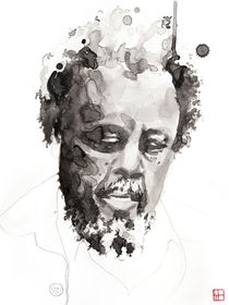 Portrait of Charles Mingus von Philippe Debongnie
