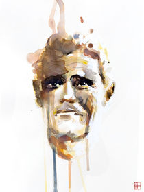Portrait of Chet Baker by Philippe Debongnie