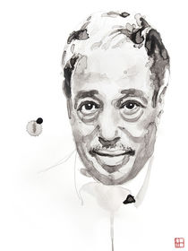 Portrait of Duke Ellington von Philippe Debongnie