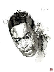 Portrait of John Coltrane von Philippe Debongnie