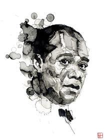 Portrait of Louis Armstrong von Philippe Debongnie