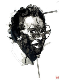 Portrait of Miles Davis von Philippe Debongnie