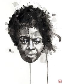 Portrait of Nina Simone von Philippe Debongnie