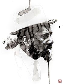 Portrait of Thelonious Monk von Philippe Debongnie
