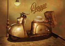 Goggo Motorroller aus den 50er Jahren by Monika Juengling