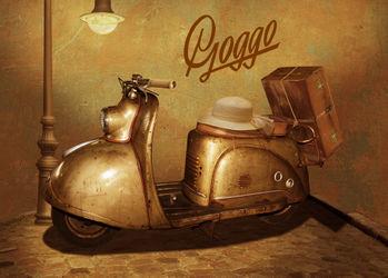 Motorroller-goggo-neu