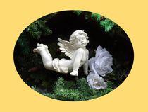 Weihnachtspostkarte Engel von kattobello