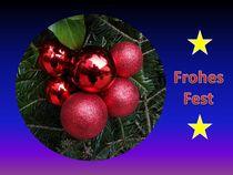 Weihnachtspostkarte Weihnachstkugeln 1 von kattobello