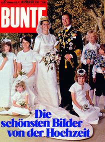 Silvia & Carl Gustaf von Schweden: BUNTE Heft 27/76 von bunte-cover