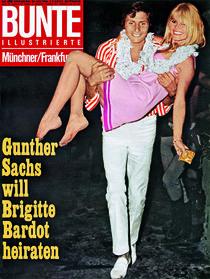 Brigitte Bardot & Gunther Sachs: BUNTE Heft 30/66 von bunte-cover