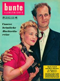 Maria Schell & Horst Hächler: BUNTE Heft 40/57 von bunte-cover