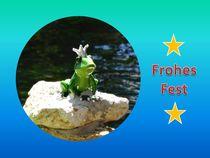Weihnachtspostkarte Froschkönig von kattobello