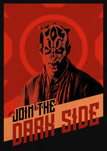 Join The Dark Side - Star Wars Poster von Game Posters