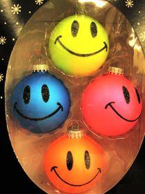 lustige Tannenbaumkugeln ..Smileys ! von assy