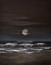 Mondnacht am Strand von RAINER PFANNKUCH