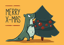 Christmas dino by klossisch