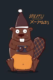 Christmas Card Beaver von klossisch
