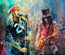 Slash And Axl Rose by Miki de Goodaboom