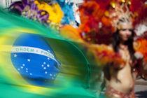 Brazilian flag on the parade. by studioflara