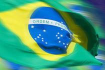 Waving Brazilian flag by studioflara
