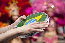 Brazilian tambourine on the parade von studioflara