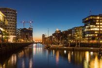 Abendlichter in der Hafencity by Leif Benjamin Gutmann