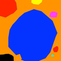 Blau_Orange von Albert Weber