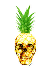 Pineapple Skull by Camila Oliveira