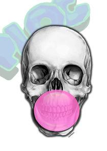 Bubble Gum Skull von Camila Oliveira