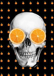 Orange Skull by Camila Oliveira