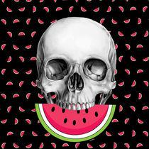 Watermelon skull von Camila Oliveira