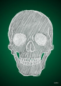 Chalk Skull von Camila Oliveira