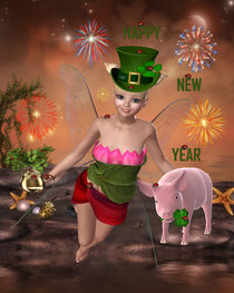 Happy new year Glückselfe von Conny Dambach