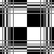 Black and White Pattern von Melanie Mertens