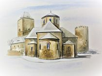 Burgkirche Querfurt im Winter by Heike Jäschke