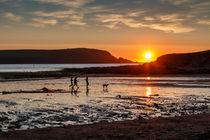 Cornish sunset at Daymer Bay near Padstow by Chris Warham