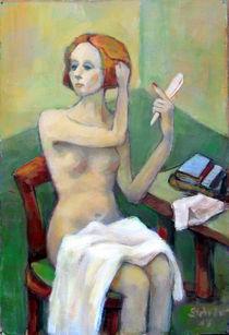 Frau bei ihrer Toilette von alfons niex